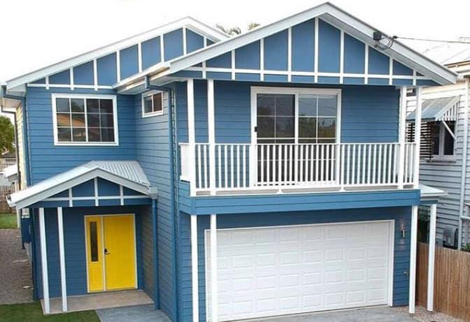 Brisbane Hampton Style blue house