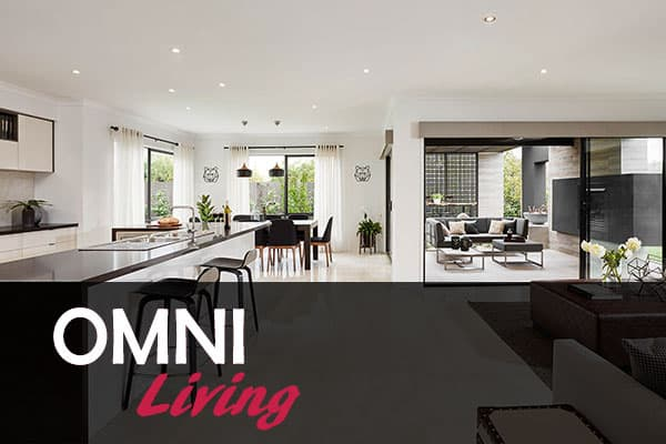 living area designed in omni living range