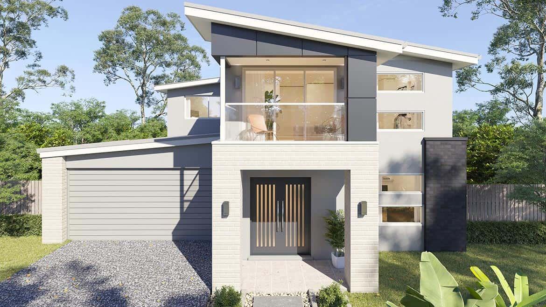 Cover facade modern, big house   Omni Built Homes