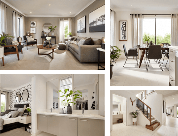 collage of example house designs