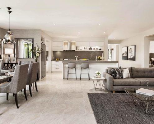 stylish open plan living area