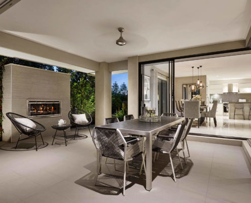 modern outdoor dining area