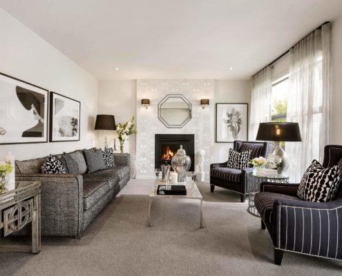 modern residential family room