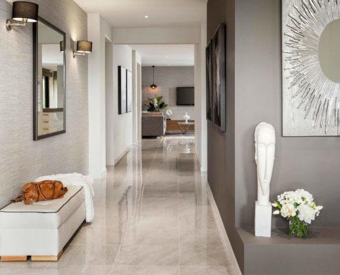 modern residential hallway