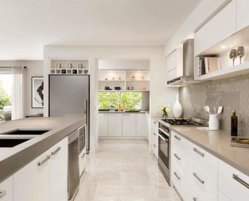spacious open kitchen area