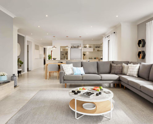open residential living area