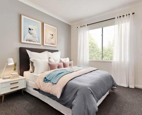 bedroom with animal art