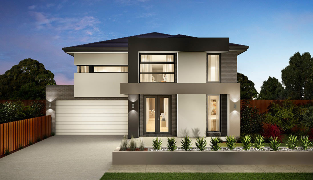 Large two storey home with manicured garden