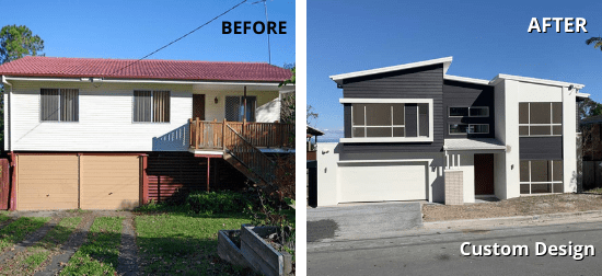 Custom - before & after