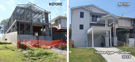 Custom house before and after