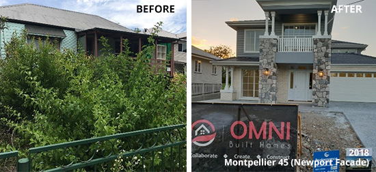 Steps to Knockdown and Rebuild Newport - Before and After