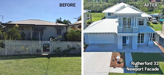 Rutherford 32 house before and after