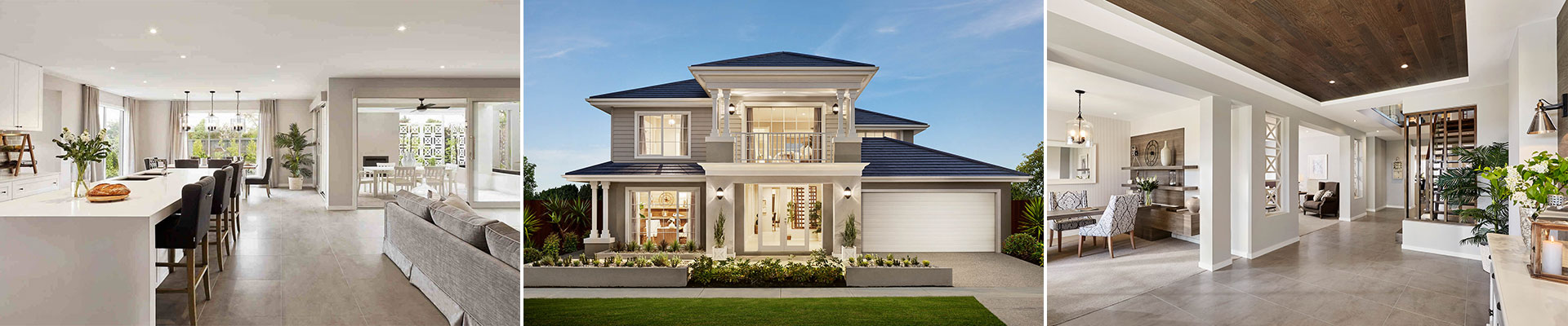 Hamptons style home design.