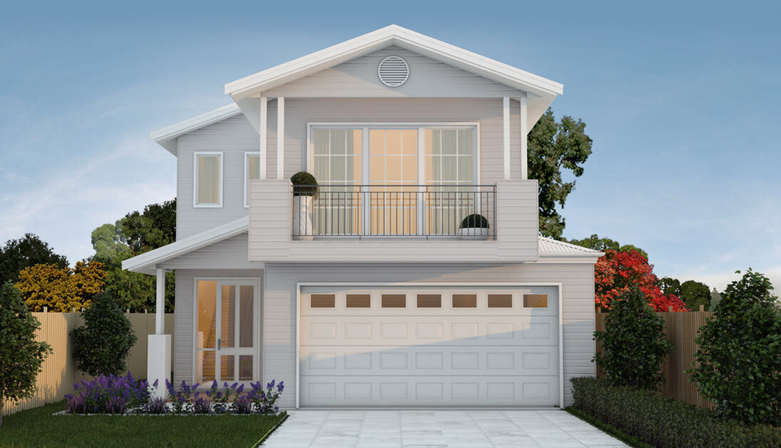 Large two storey home with balcony