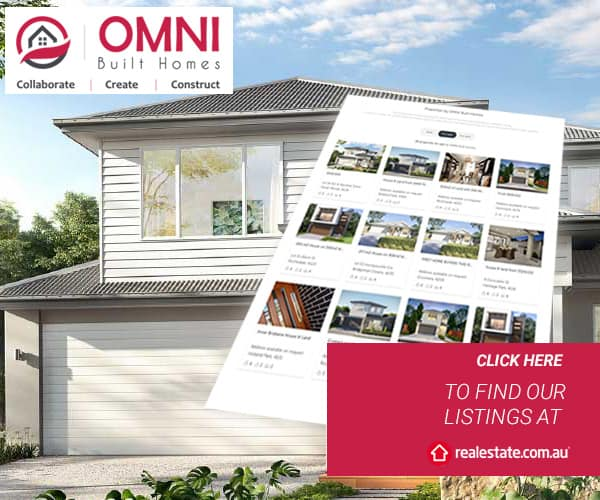 OMNI Built Homes - REA Listings | Featured image for house and land packages landing page.