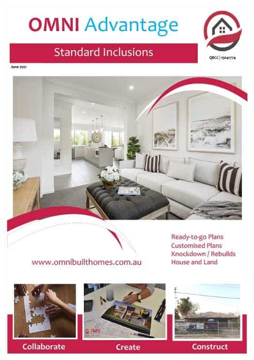 Omni Advantage brochure standard inclusions